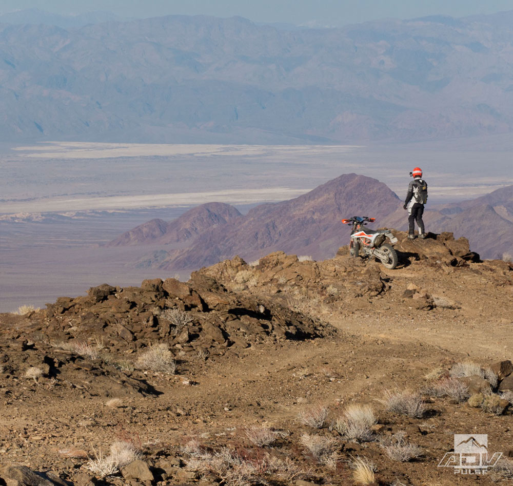 Stunning views in Chloride during the Death Valley Rally.