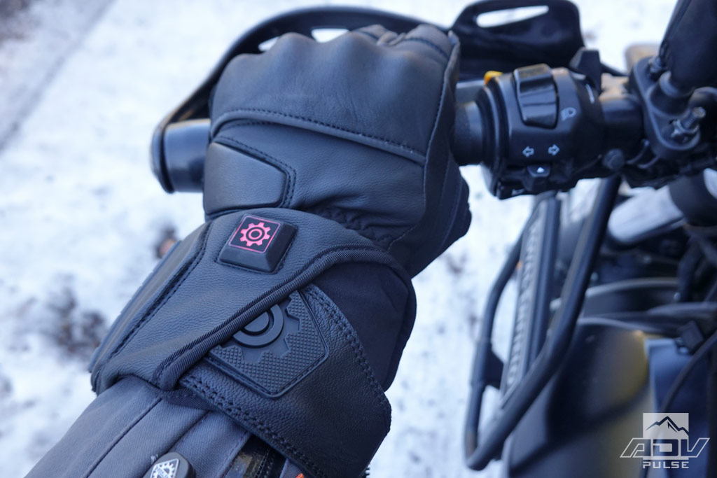 Heat settings on the Outrider Heated gloves.