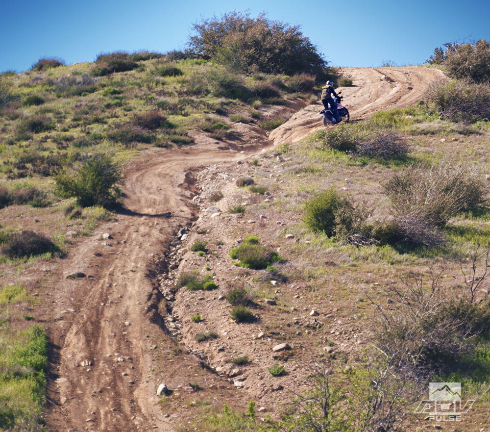 KTM 390 Adventure hillclimb