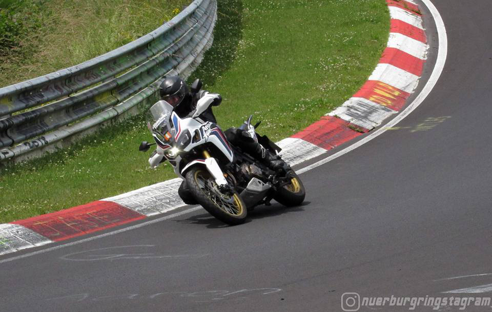 Honda Africa Twin CRF1000L at the Nürburgring