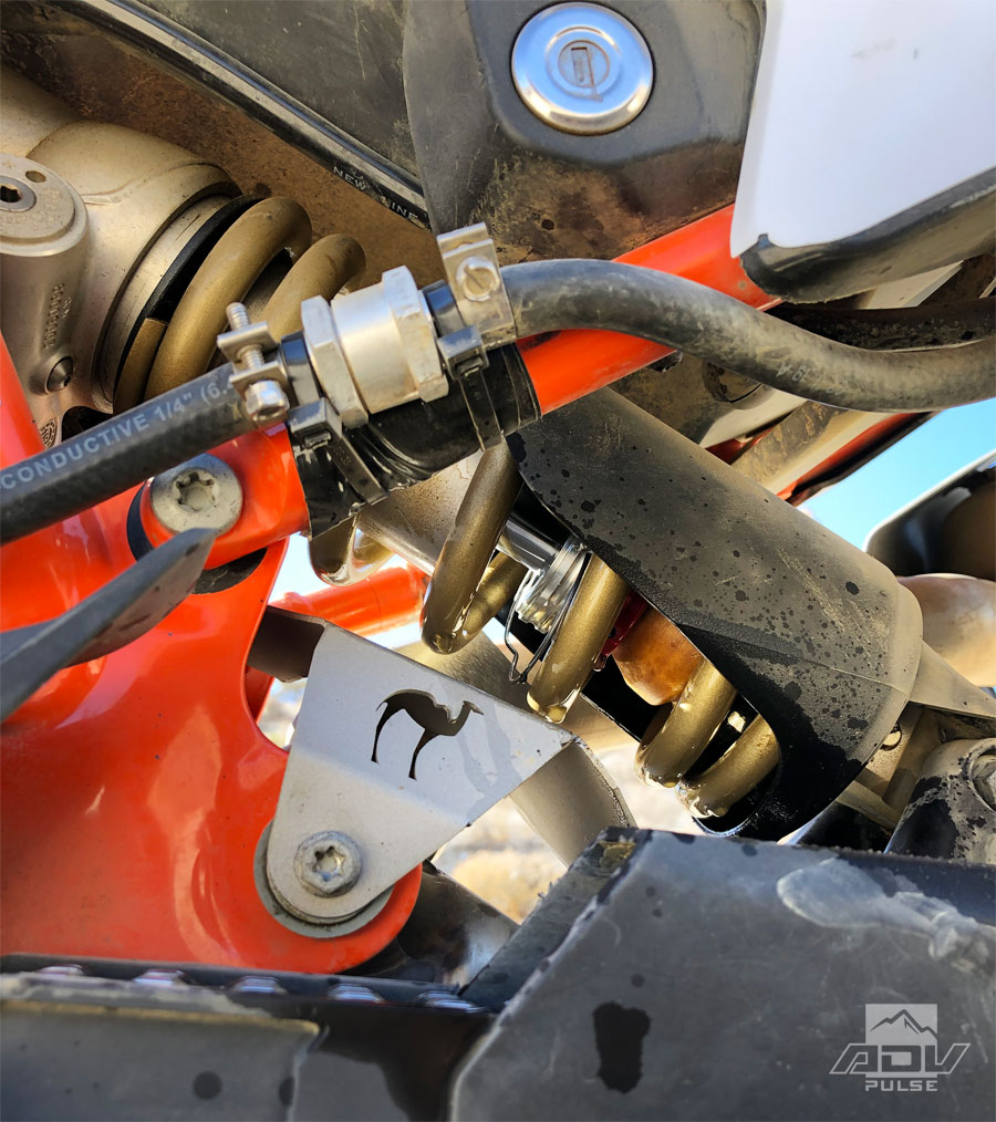 KTM 790 Adventure rear shock failure.