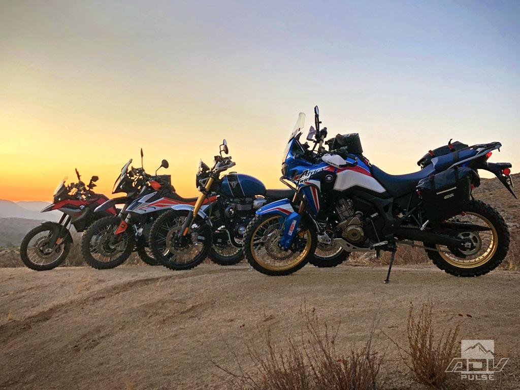 Honda Africa Twin, Scrambler 1200 XE, KTM 790 Adventure R, BMW F850GS