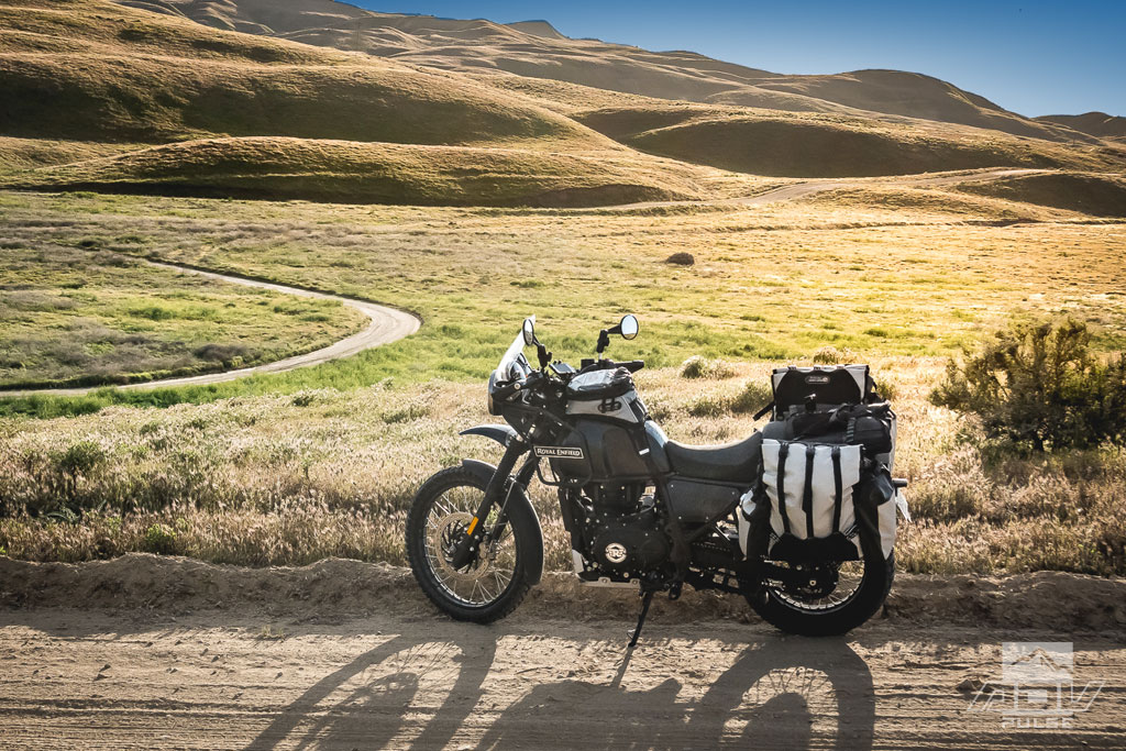 A Royal Enfield Himalayan at the Carrizo Plain National Monument.