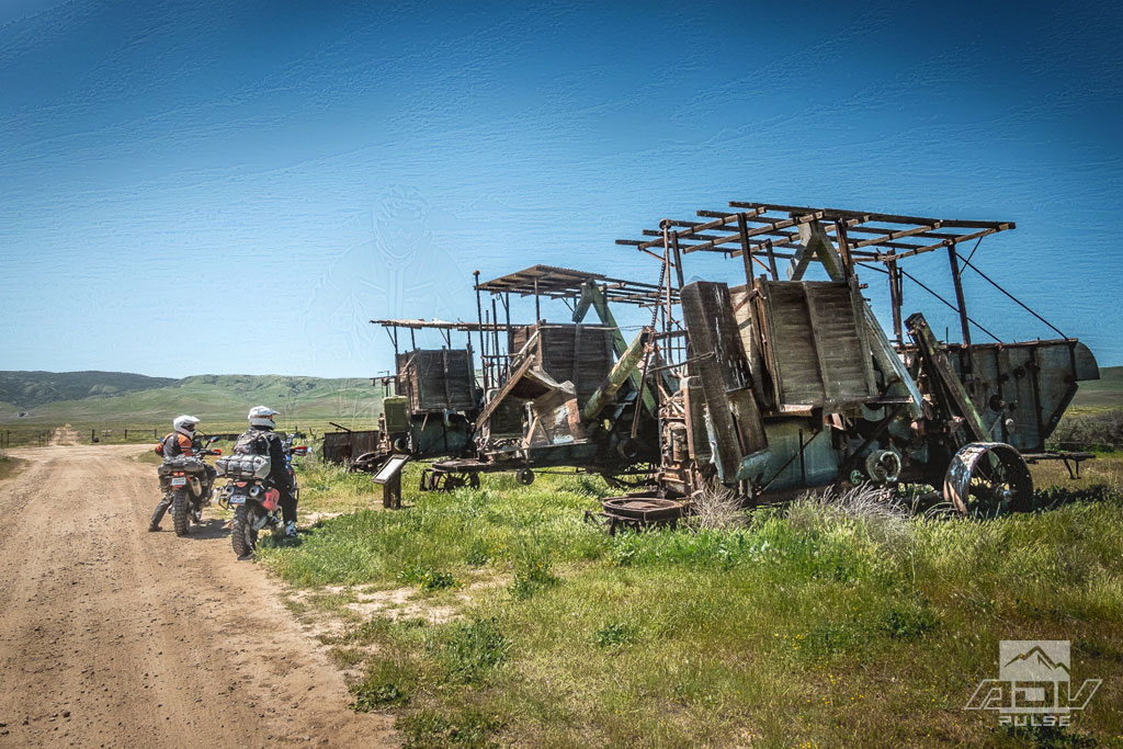 Old wooden harvesters at the Carrizo Plain National Monument.