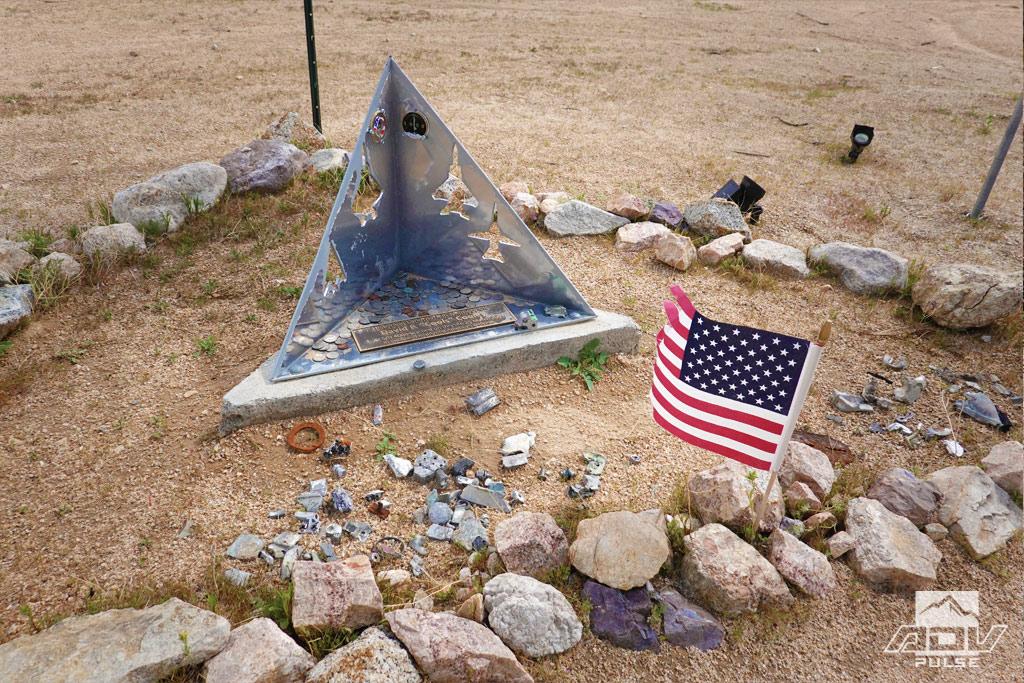 F22 crash site in the Mojave Desert.