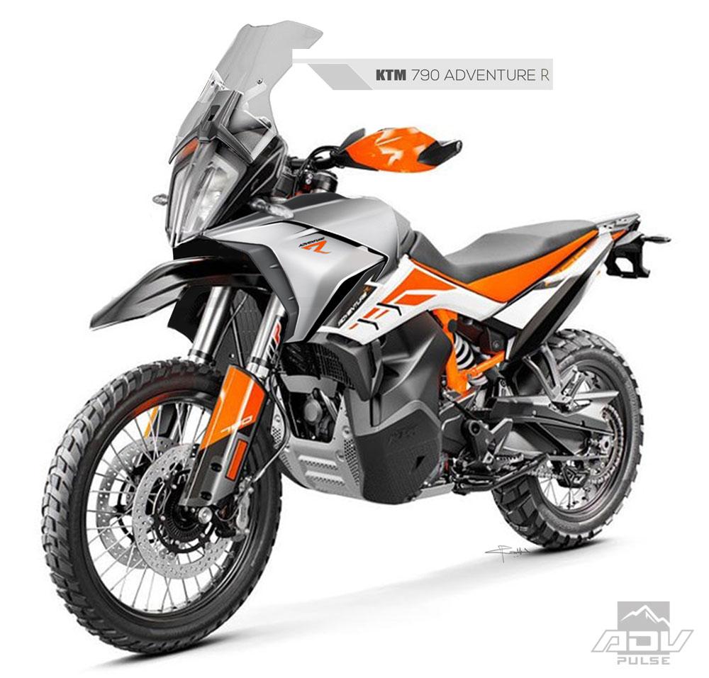 Rebel X KTM 790 Adventure fairing kit