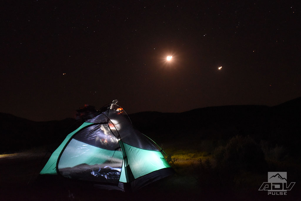 Motorcycle camping in the Carrizo Plain National Monument