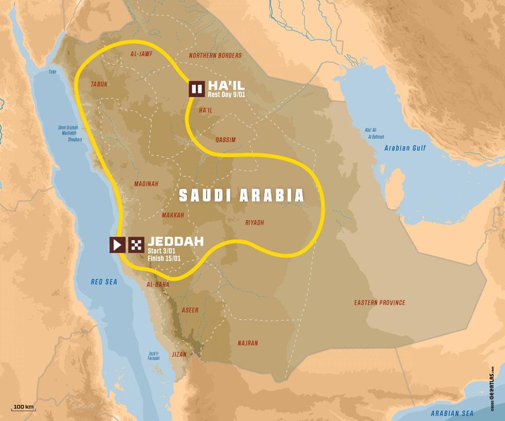 Dakar 2022 Saudi Arabia new route