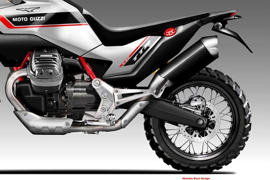 Moto Guzzi V90 TTR concept by Oberdan Bezzi