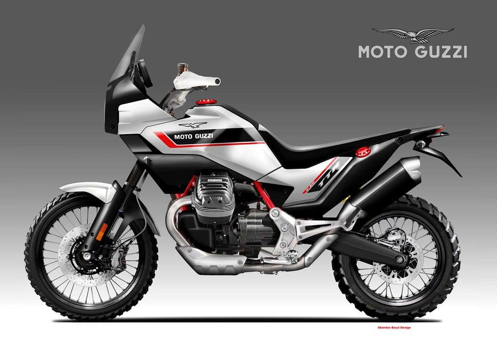Moto Guzz V85 TT concept by Oberdan Bezzi