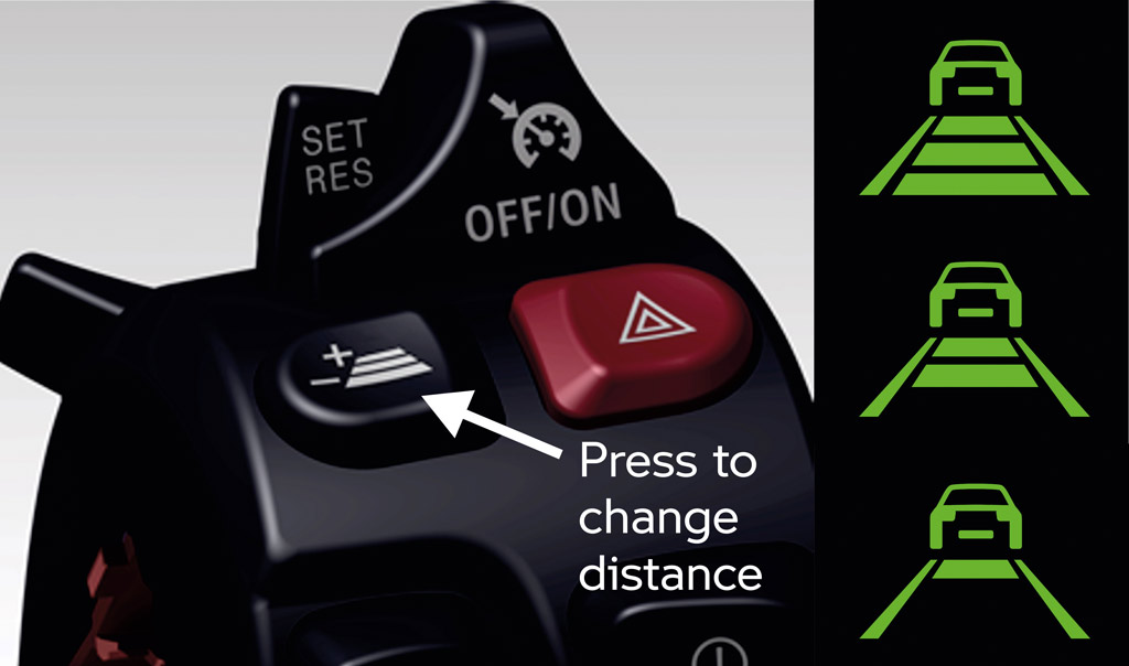 BMW active cruise control for motorcycles