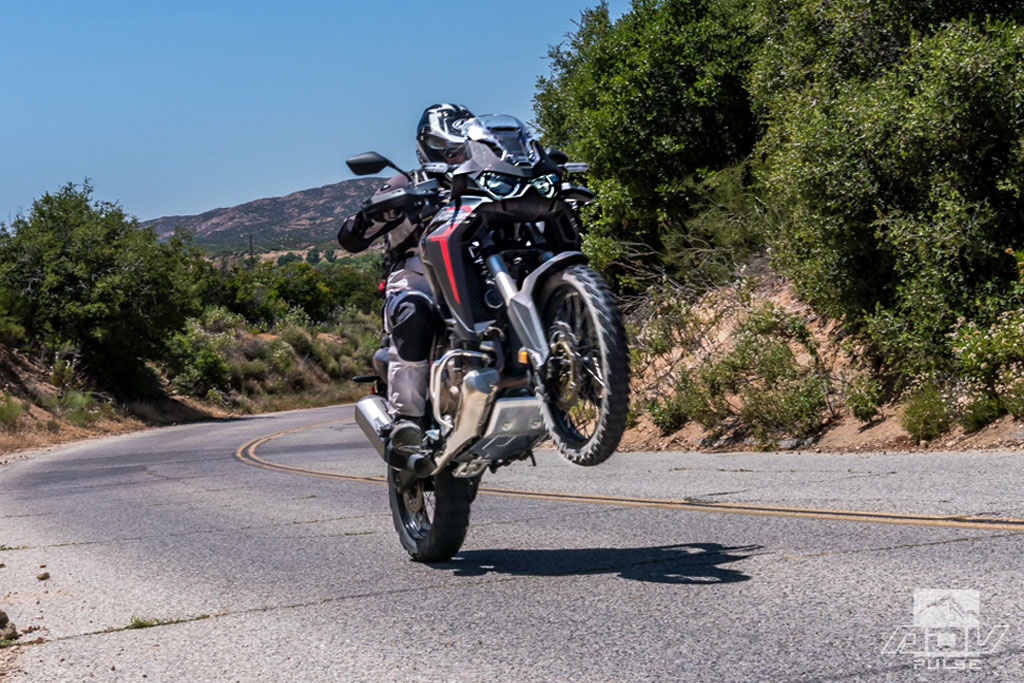 The new Africa Twin CRF1100L showing off its power.