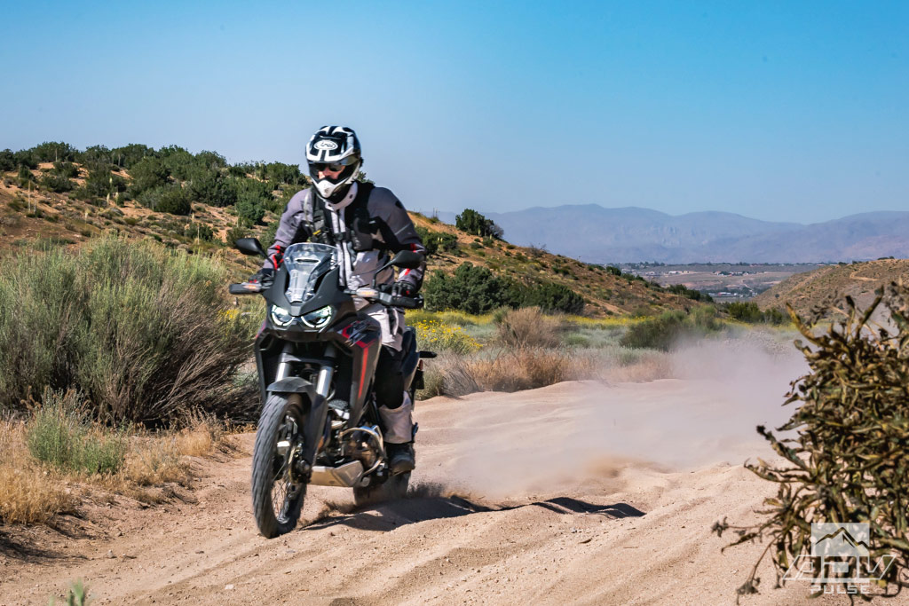 Deep sand riding on the 2020 Honda Africa Twin CRF1100L