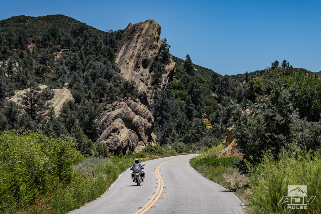 Riding to Ojai, California