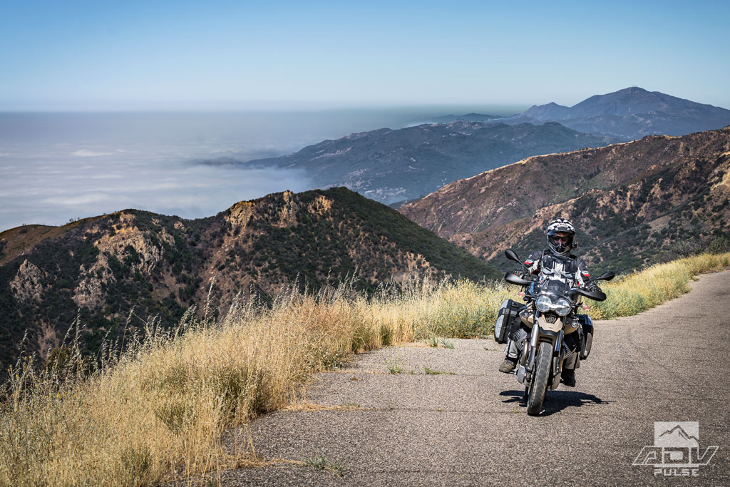 Riding the California Coast above Santa Barbara