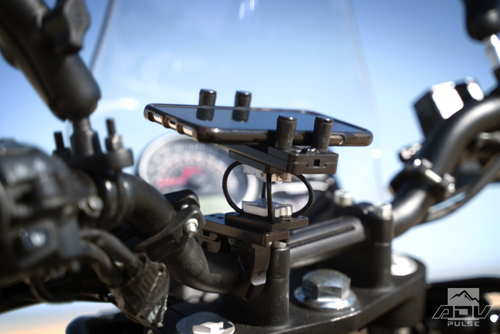 Royal Enfield Himalayan Mods Perfect Squeeze Phone Mount