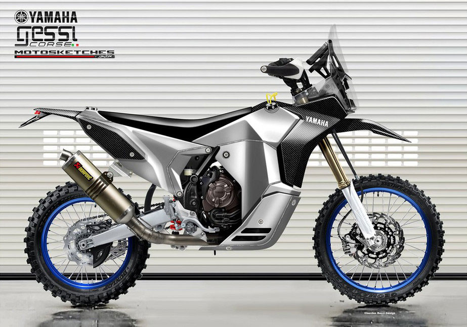Yamaha Tenere 700 Rally Racer by Oberdan Bezzi and Mauro Gessi