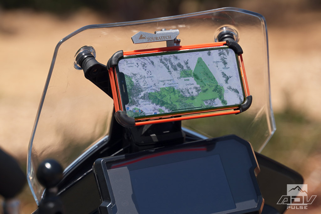 KTM 390 Adventure Accessories - phone holder