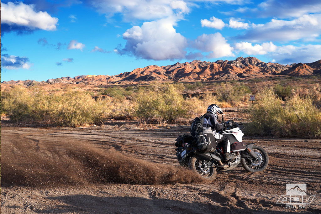 Dunlop Trailmax Mission 50/50 dual sport tire in sand and mud