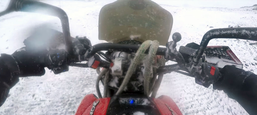 Arctic to Antarctica riding motorcycle
