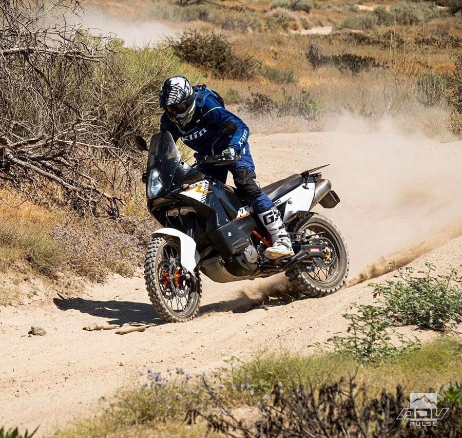 Desert Terrain testing Warp 9 Racing Wheels on the KTM 990 Adventure R