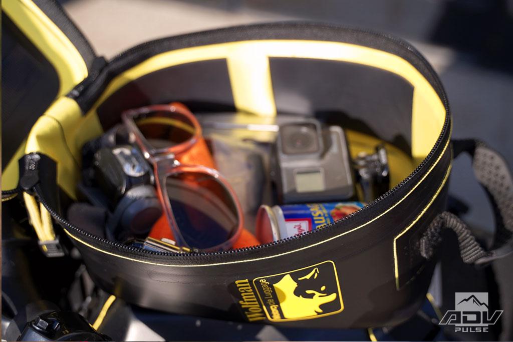 Wolfman Enduro Tank Bag inside