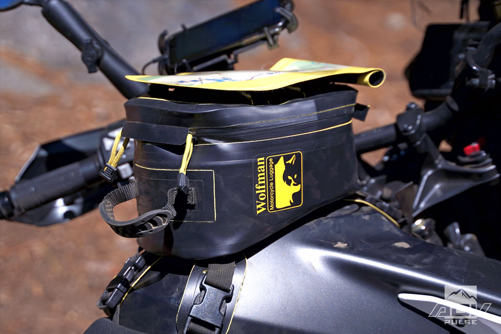 Wolfman Luggage Enduro Tank Bag Map Pocket