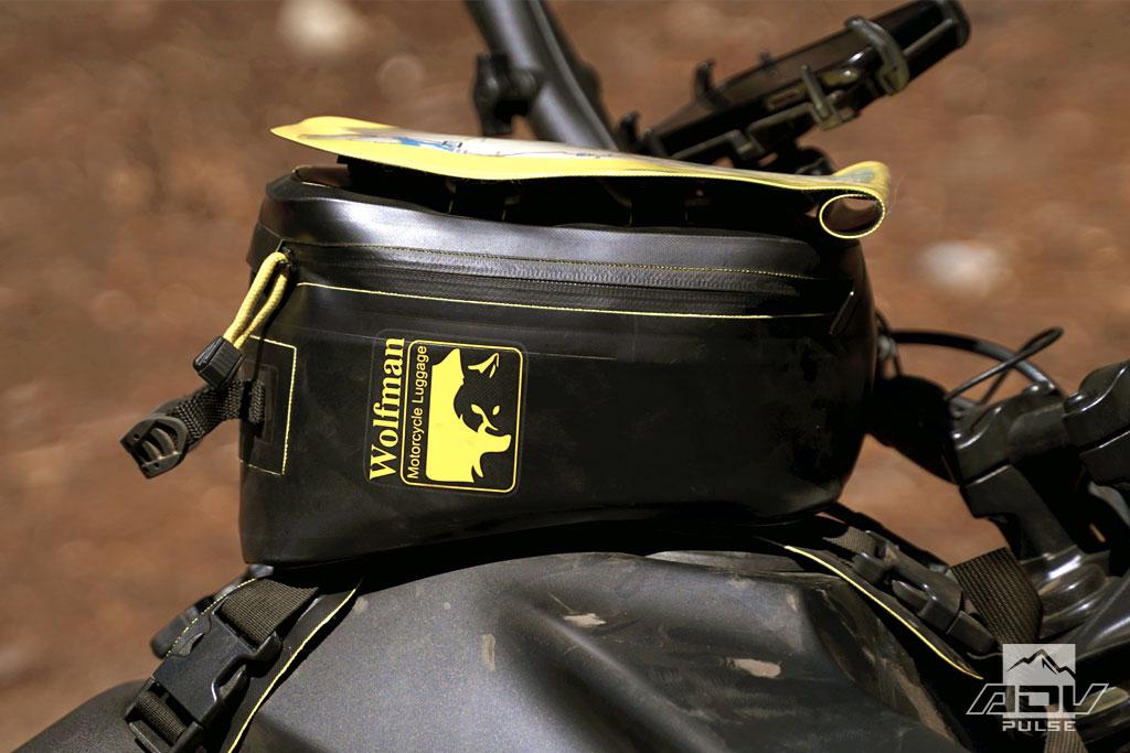 Wolfman Luggage Enduro Tank Bag reflective logo