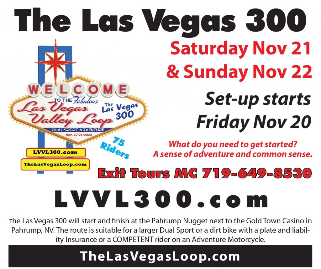 Las Vegas 300 Dual Sport Ride