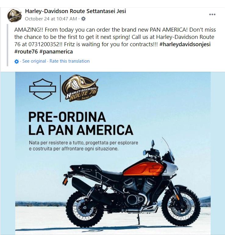 Harley-Davidson Pan America pre-orders