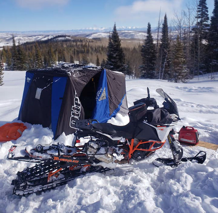 KTM 1090 Adventure R snow bike