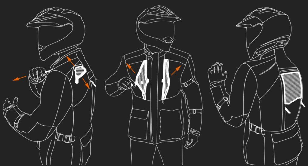 KTM Terra Adventure Jacket motorcycle gear ventilation