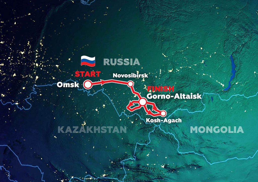 2021 Silk Way Rally Route