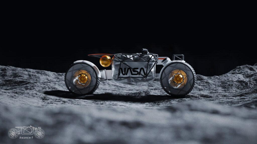 NASA Mars rover model at Petersen Automotive Museum
