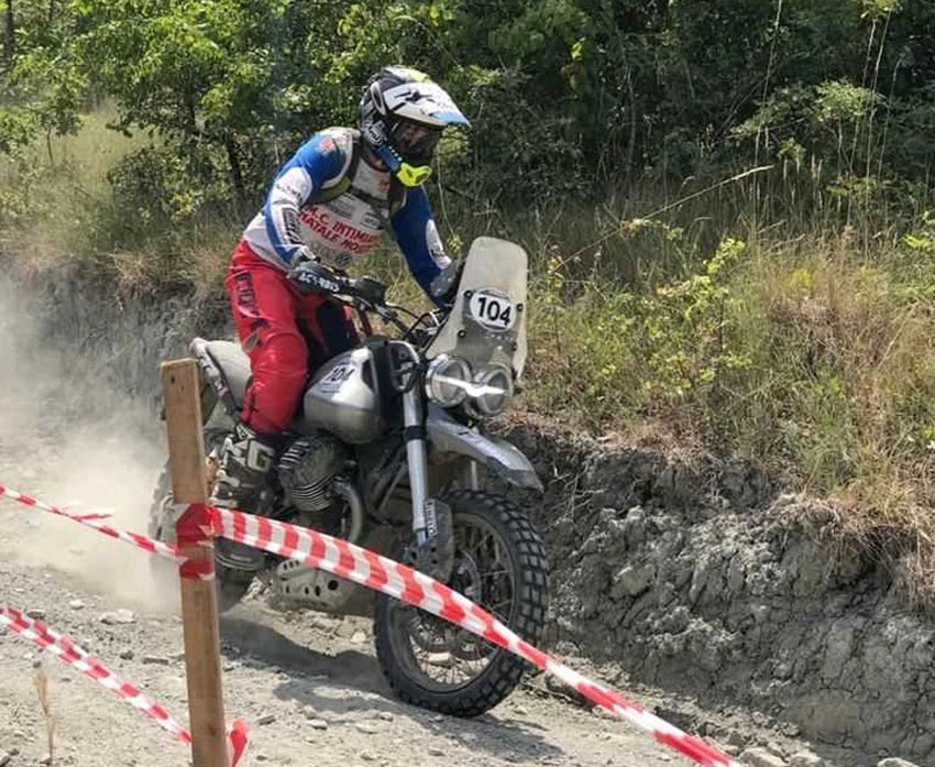 Moto Guzzi V85 TT takes on Rally Raid race