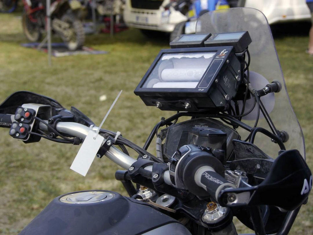 Modified Moto Guzzi V85 TT takes on Rally Raid race
