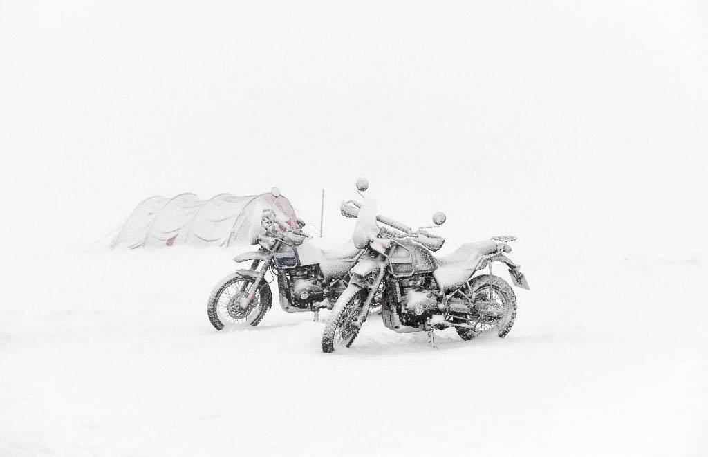 Royal Enfield Himalayan rides towards the South Pole
